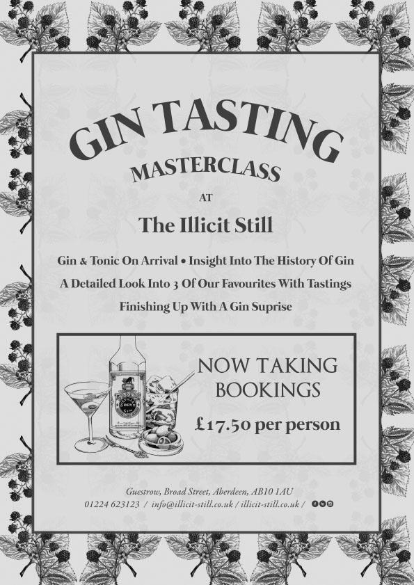 Illicit Still Gin Tasting